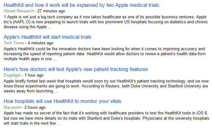 HealthKit trials